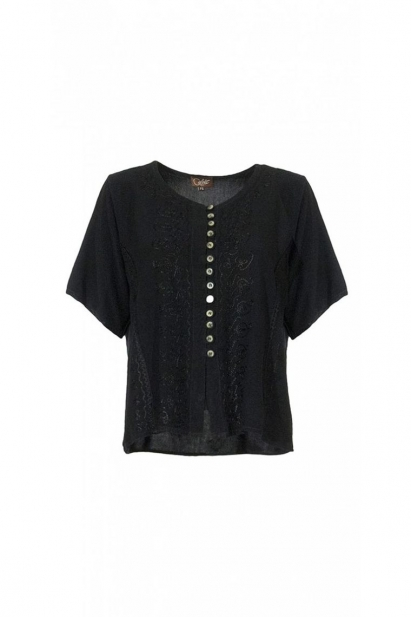 Blouse bohemian romantic, blouse embroidered indian and stone wash