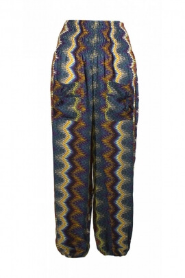 Pants were original, patterns, zigzag, colorful, style Aladdin