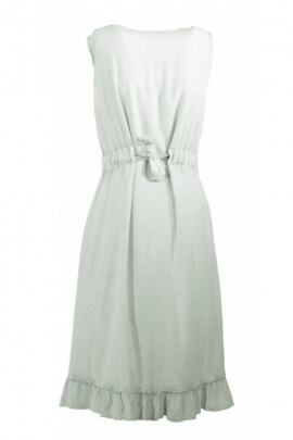 Dress mi-long-embroidered and original, romantic style, bohemian, sleeveless