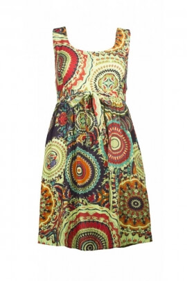 Minidress original for summer printed wheels, dress feminine and romantic