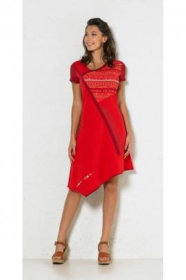 Dress ethnic asymmetrical, printed indian original and colourful, trendy hispanic