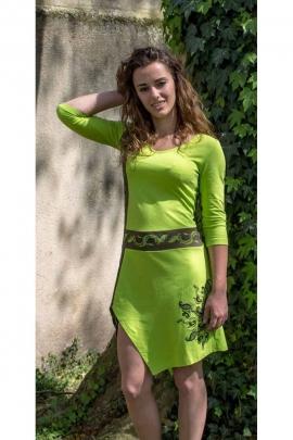 Dress ethnic tips amazon, flowery patterns, jersey cotton