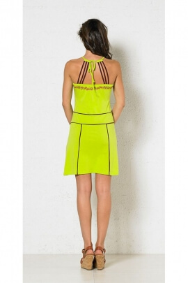 Dress original summer mesh floral pattern colored back stylish