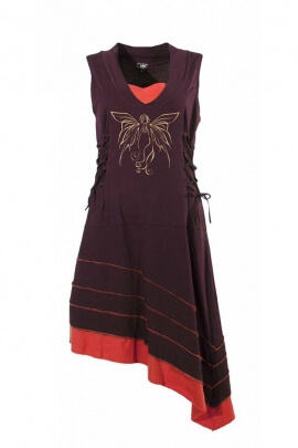 Dress ethnic asymmetrical, style, amazon, the laces on the hips