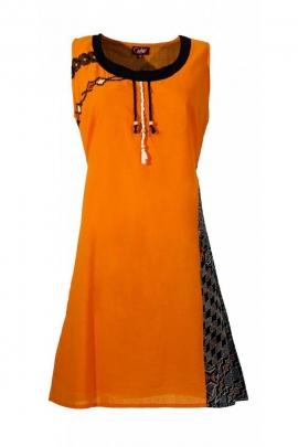 Tank dress casual, sleeveless, african motif colorful