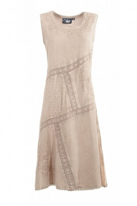 Dress romantic bohemian and washed-out embroidered dress style courtesan