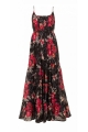 Long dress bohemian and romantic, cotton voile lined, fabrics ruffles
