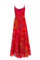 Long dress bohemian colourful, romantic look, thin straps