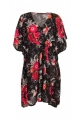 Tunic dress colorful, wide and ample, printing flower original