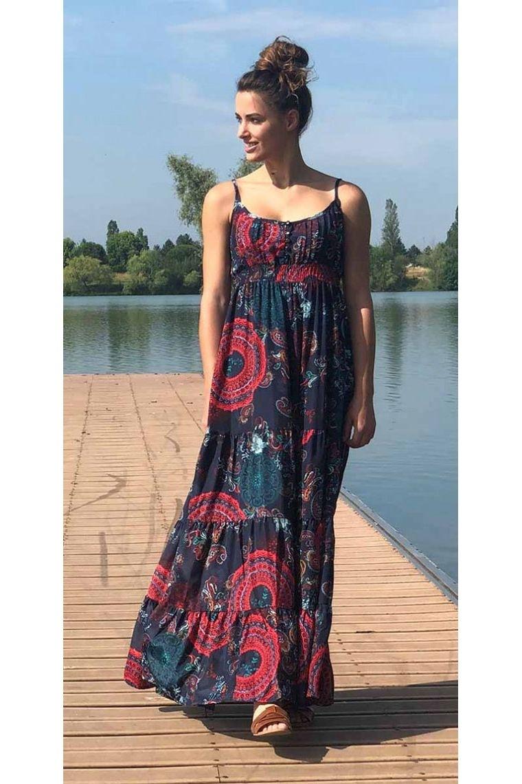 Robe Ethnique Maxi Robe Indienne Fleurie Et Coloree