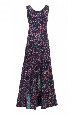 Long dress bohemia and original, look flowery, romantic, printed osaka original