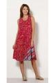 Dress mi-long, bohemia and original, look flowery colorful, printed osaka