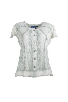 Embroidered romantic stone washed Blouse
