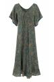 Dress bohemian long colored fabric sari original, short-mid-long
