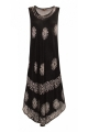 Dress casual maxi for the beach, printed, tie-dye, loose cut