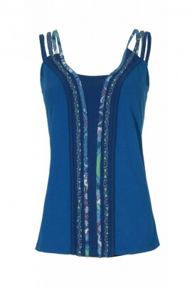 T-shirt casual, cotton tank top, ethnic style colorful
