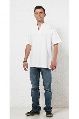 Man Mao collar shirt short sleeves