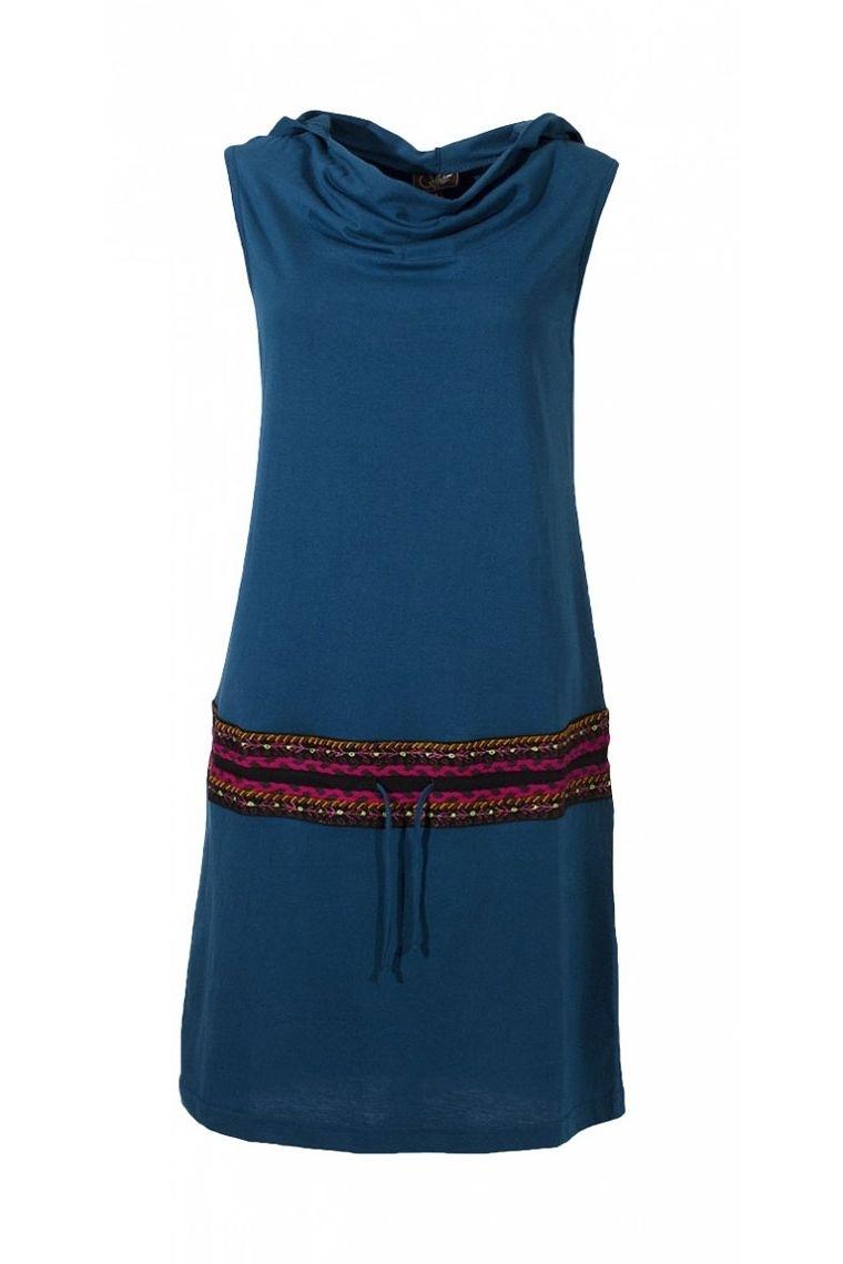 Dress savanna original short to the hood, waistband aztec and lace