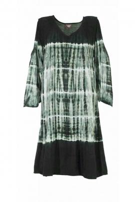 Wide Robe original ¾ sleeve, viscose tie-dye