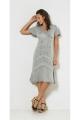 Short dress ethnic embroidered viscose, high waist, stone wash, style bohemian