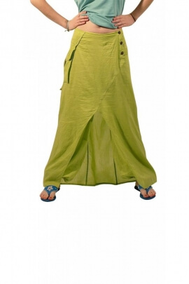 Baggy trousers original with surjupe in cotton voile and button