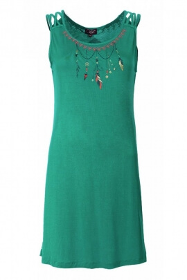 Dress ethnic original and on trend, sleeveless, viscose elastane