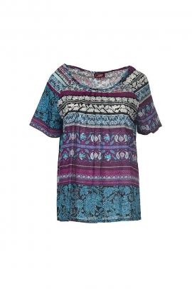 Cotton voile blouse printed Terra