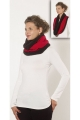 Scarf snood original and colorful, polyester, two tone