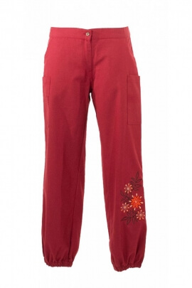 Pants original for woman, comfortable cut, style, hippie chic, 100% cotton