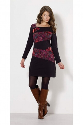 Dress ethnic cotton jersey, color and look of spring even in the dead of winter