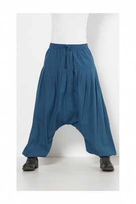 Beautiful harem pants in cotton trend man with elasticated waist