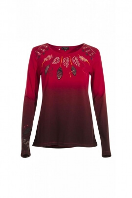 Superb t-shirt original shaded long-sleeved style with ethnic or bohemian