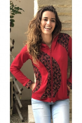 Lovely winter jacket cotton hoody original with ethnic prints
