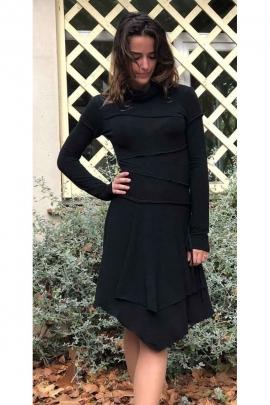 Dress solid stretch mesh, dress original asymmetric