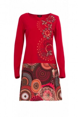 Dress bohemian long sleeve for winter, dress, ethnic colorful