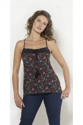 Top neckline with shoulder straps and back lace Prints Antika