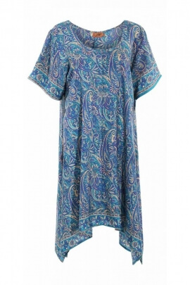 Vestido túnica sari, amplio y fluido