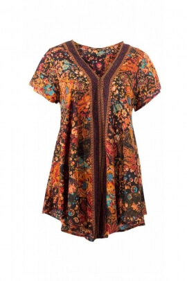 Tunic sari indian fluid