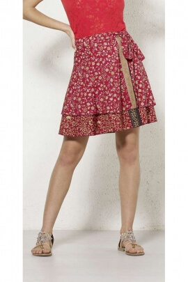 Skirt sari short portfolio, lined, and grande size