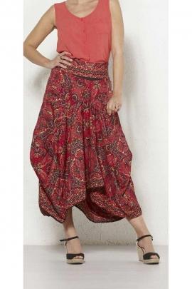 Long skirt fashion harem pants saree with ruffles