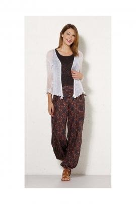 Baggy trousers sari, link belt