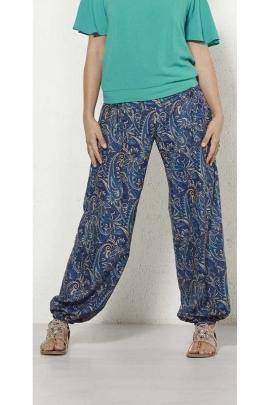 Pantalón sari, copa tipo, aladdin, el cinturón de acordeón