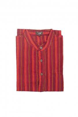 Man cotton shirt striped long-sleeved nepal