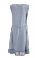 Sleeveless dress stone wash asymmetric band, beautiful embroidery