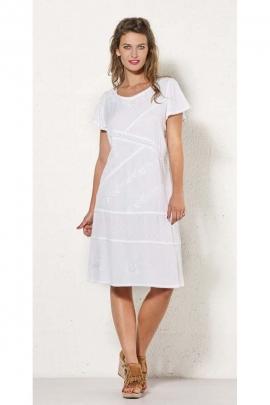 Vestido original de piedra de lavar bien, rústica-manga corta