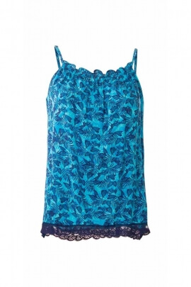 Casual strappy lightweight fluid top