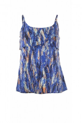 Light and fluid top with panther print straps
