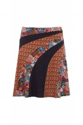 Patchwork bandeau ethnic print short skirt