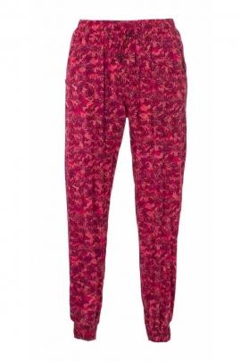 Spring print elastic ankle-length pants