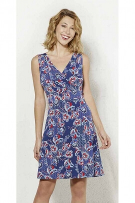 Vestido corto cariño ajustado, estampado de flores de primavera